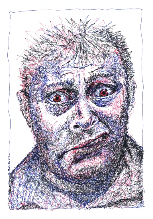 Scribbled portrait