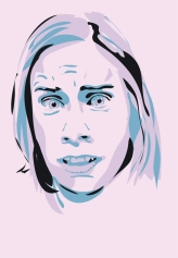 Exercise in Illustrator, a face expressing fear