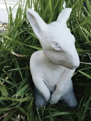 Bunny, fired paperclay