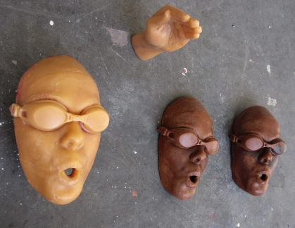 Wax casts, waiting to be made into bronze