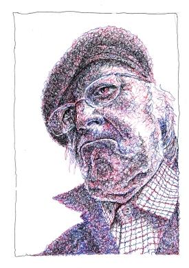 Scribbled portrait of Norman