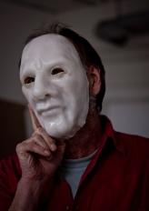 Ralph wearing the Ralph mask