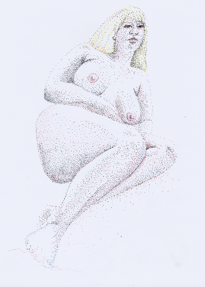 Life drawing, female nude
