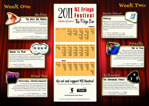 Flyer Fringe venue 2011