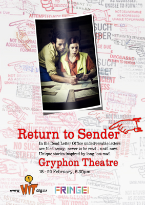 flyer for Return to Sender