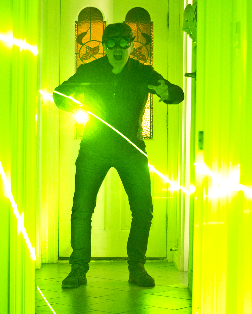 green laser man