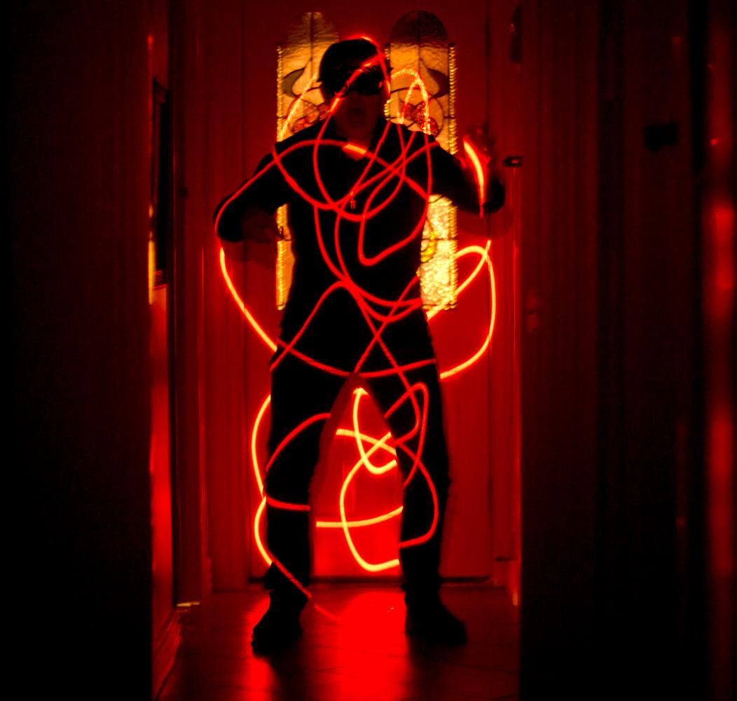 red laser man