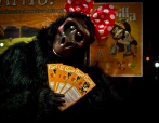 Gorilla with flyers