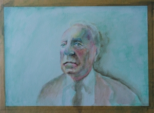 old man in watercolour