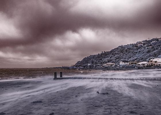 IR sand storm lyall bay