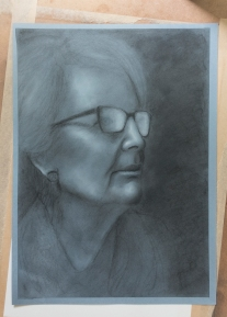 black and white charcoal