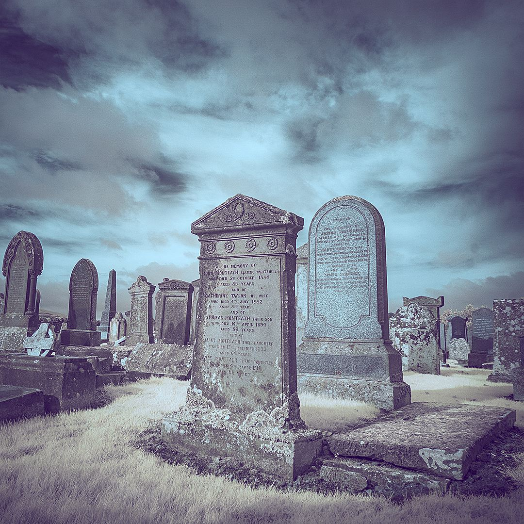 Gravestones IR modified camera