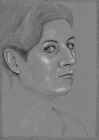Stippled portrait
